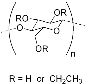 Ethyl cellulose chemical structure