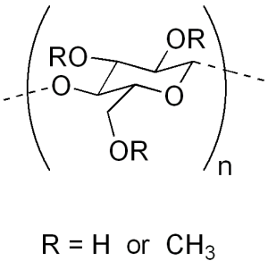 Methyl cellulose chemical structure