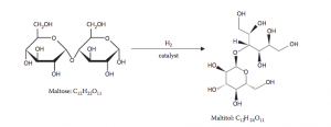 Hydrogenation of maltose to maltitol