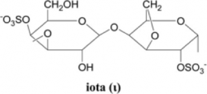 Iota carrageenan chemical structure