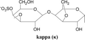 Kappa carrageenan structure