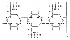 Propylene glycol alginate chemical structure