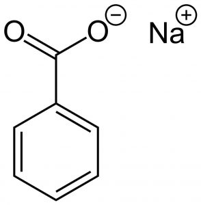 Sodium benzoate chemical structure