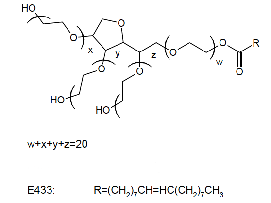 Polysorbate 80 chemical structure