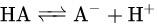 benzoic acid dissociate equilibrium