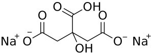 Disodium citrate chemical structure