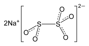 chemical structure of Sodium Metabisulfite