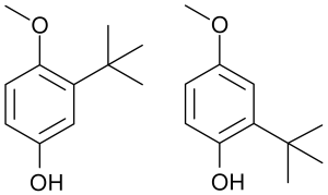 Butylated hydroxyanisole chemical structure