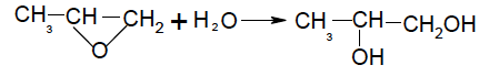 Propylene Glycol manufacturing process reacting propylene oxide with water
