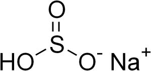 Sodium bisulfite chemical structure