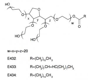 polysorbate 40 chemical formula